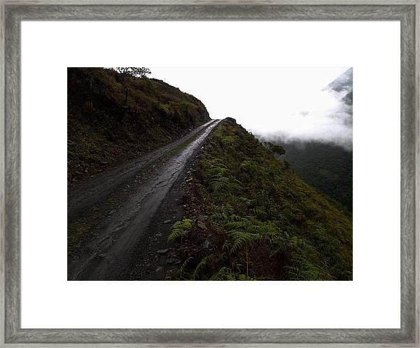 Sky Trails In Green Framed Print