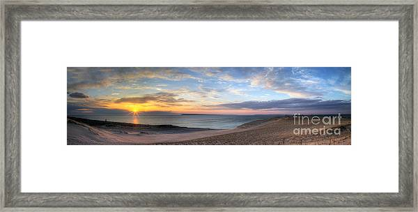 Sleeping Bear Dunes Sunset Panorama Framed Print by Twenty Two North Photography