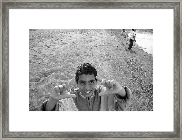 Smile Please Framed Print