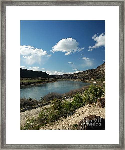 711p Snake River Birds Of Prey Area Framed Print