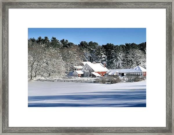 Snow Farm Framed Print