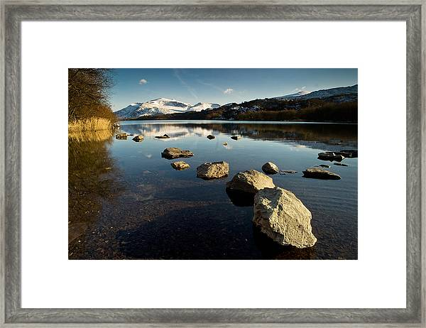 Snowdon And Llyn Padarn Framed Print