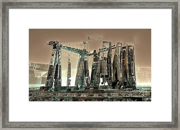 Spaceport Framed Print by Bernard MICHEL