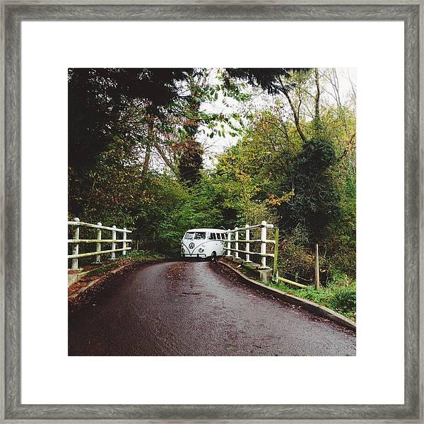 Splitscreen Over Tewin Bridge Framed Print