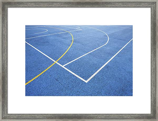 Sports Court Framed Print by Richard Newstead