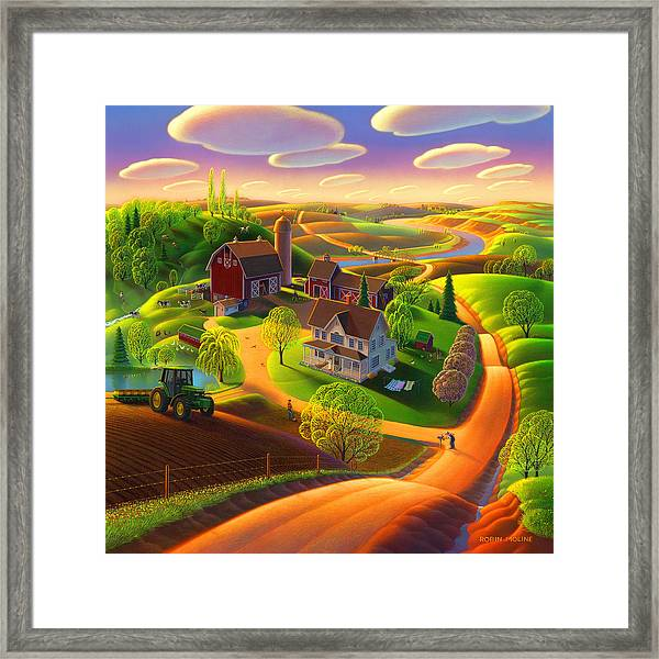 Spring On The Farm Framed Print