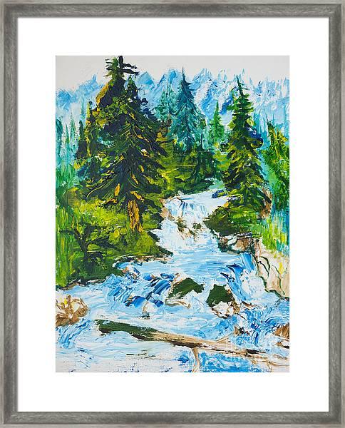 Spring Run-off Framed Print