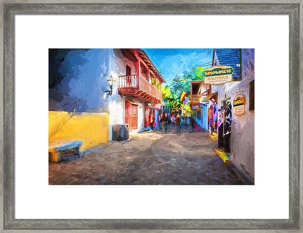 St George Street St Augustine Florida Painted Framed Print