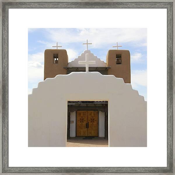 St. Jerome Chapel - Taos Pueblo Framed Print