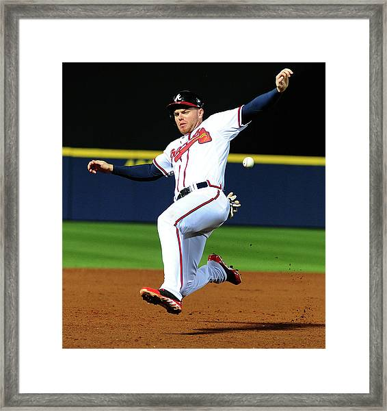 St. Louis Cardinals V Atlanta Braves Framed Print