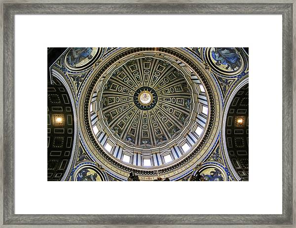 St. Peter's Basilica Dome Framed Print