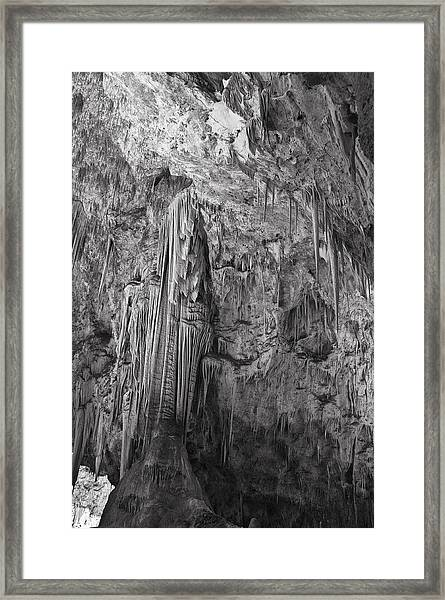 Stalactites In The Hall Of Giants Framed Print
