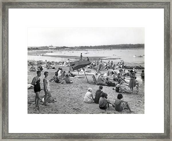 Stamford Shorewood Beach Club Framed Print