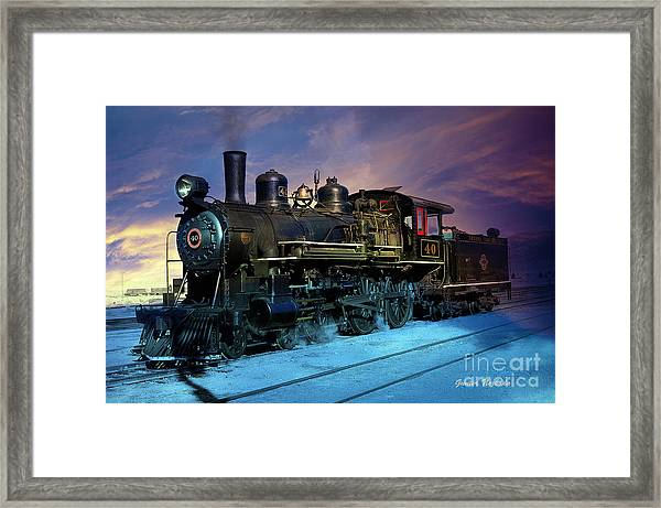 Steam Engine Nevada Northern Framed Print
