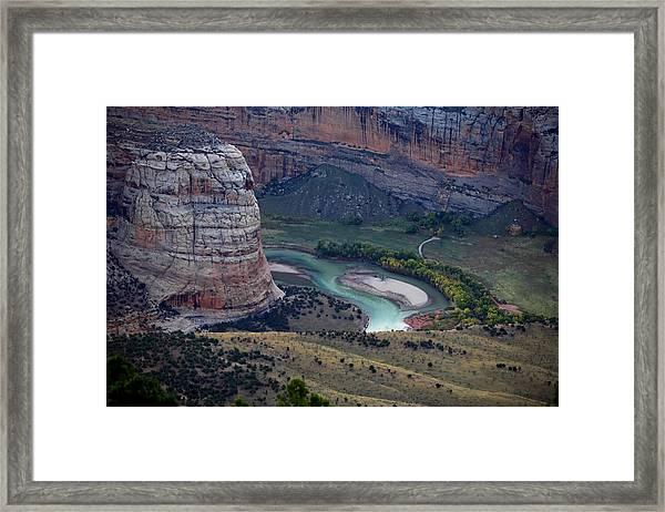 Steamboat Rock Framed Print by Darryl Wilkinson