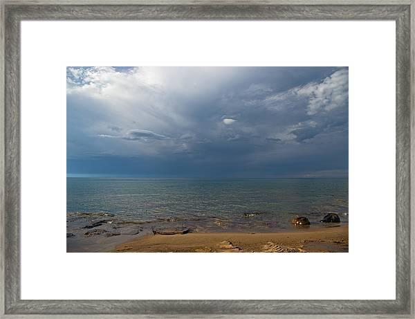 Storm Over Lake Superior Framed Print