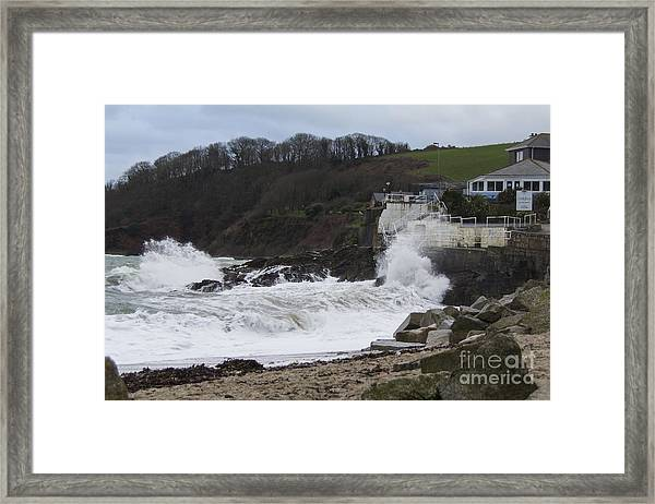 Stormy Falmouth Framed Print