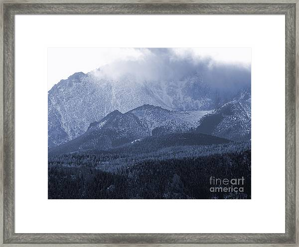 Stormy Peak Framed Print