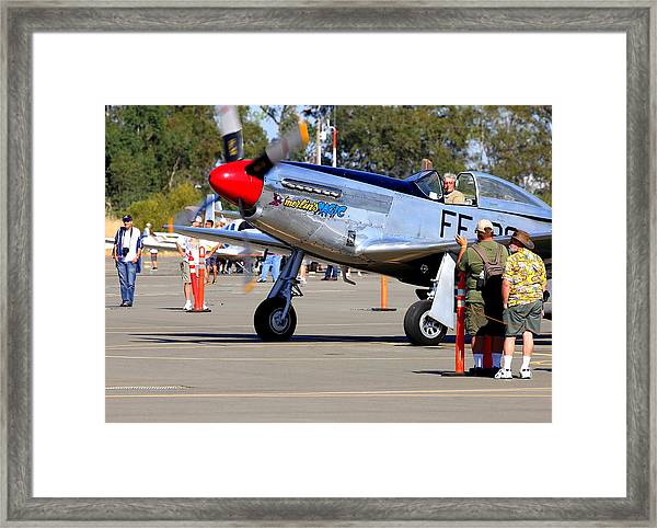 Stu Eberhardt And His P51d Merlin's Magic  Framed Print by John King