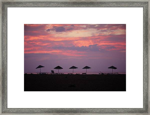 Sunrise At Sea Framed Print