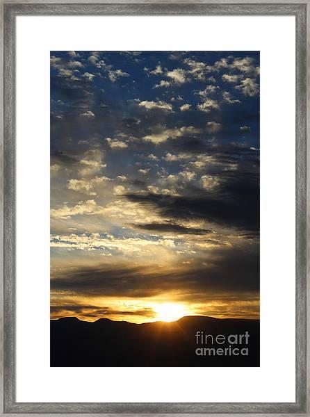 Sunrise From Mt. Elbert Framed Print