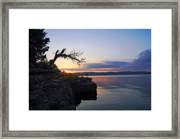 Sunrise Over Table Rock Lake Framed Print