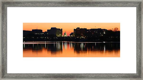 Sunrise Over The Capitol-2 Framed Print