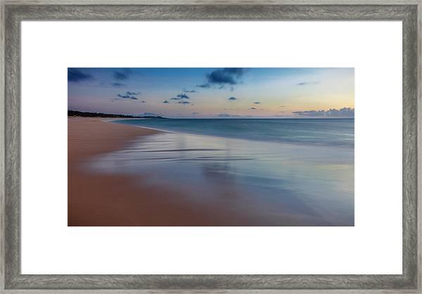 Sunset Above Papohaku Beach On Molokais Framed Print