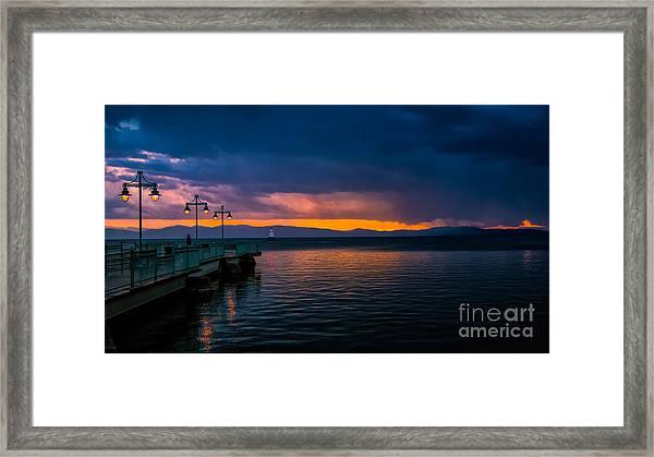 Sunset After A Passing Thundershower. Framed Print