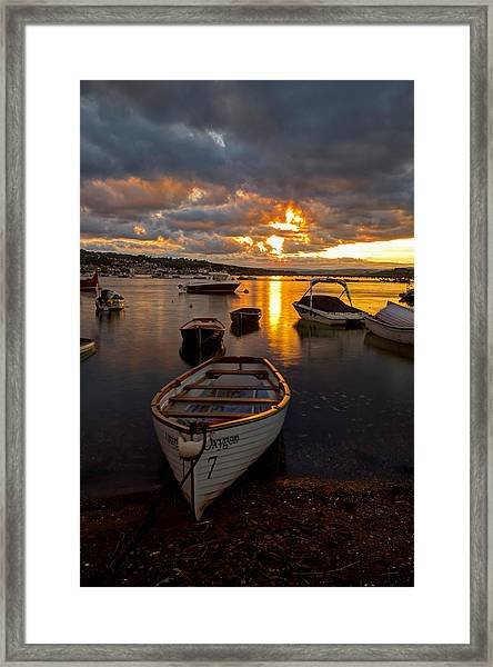 Sunset At Teignmouth Framed Print