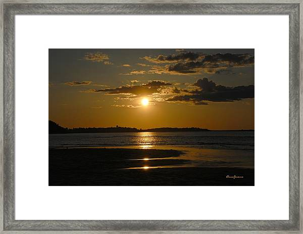 Framed Print featuring the photograph Sunset On Crane Beach by AnnaJanessa PhotoArt