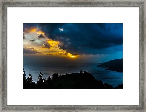 Sunset Over Blue Framed Print