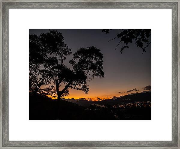 Sunset Over Copan Framed Print