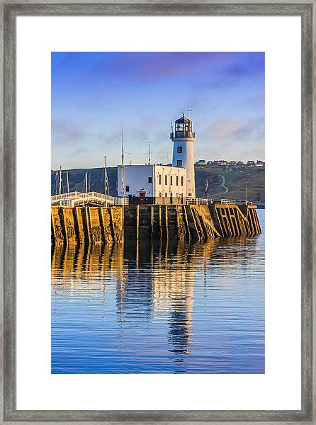 Sunset Over Scarborough Lighthouse Framed Print