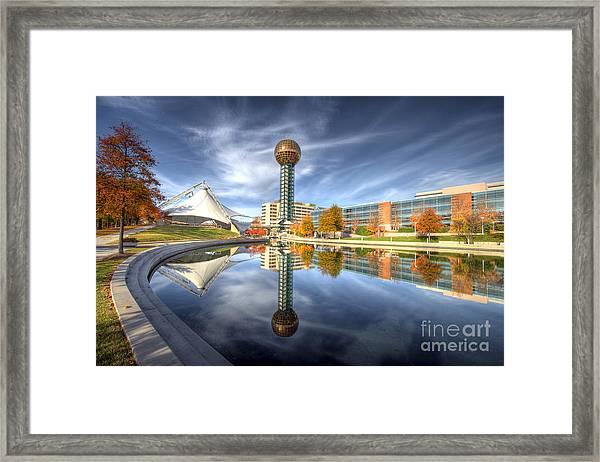 Sunsphere Framed Print