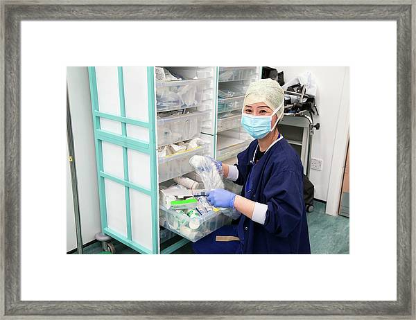 Surgery Preparations Framed Print