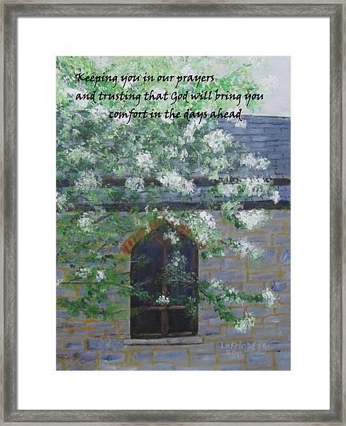 Sympathy Card With Church Framed Print