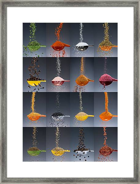1 Tablespoon Flavor Collage Framed Print