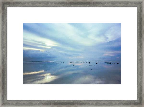 Tahiti At Sunset Framed Print