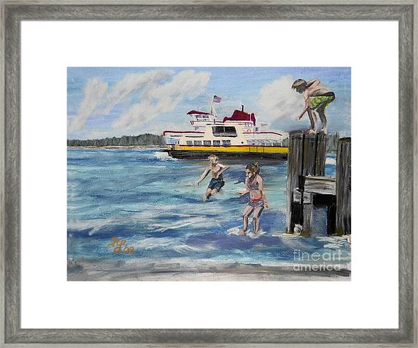 Takin' The Plunge Framed Print