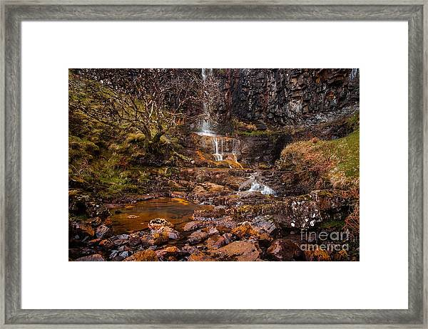 Talisker Waterfall Framed Print by Maciej Markiewicz