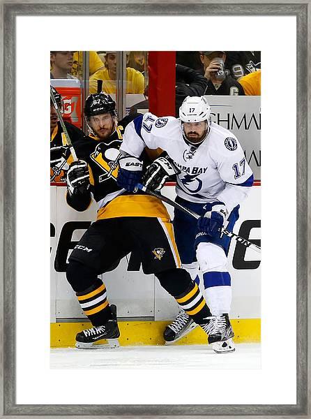 Tampa Bay Lightning V Pittsburgh Penguins - Game Seven Framed Print by Justin K. Aller