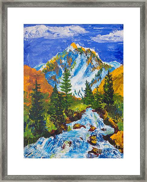 Taylor Canyon Run-off Framed Print