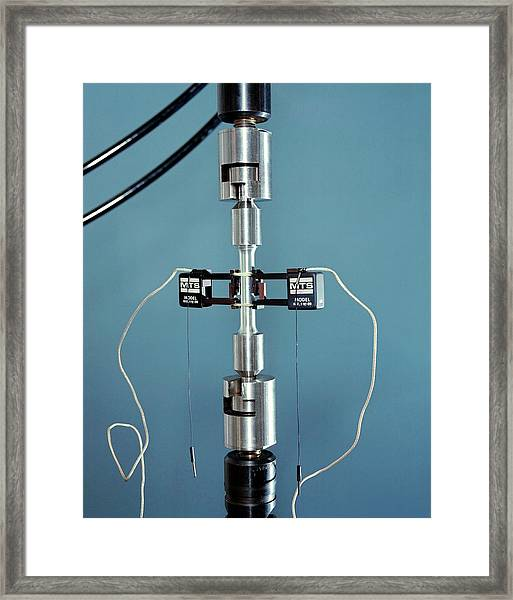 Tensile Testing Framed Print by Langley Research Center/nasa/science Photo Library