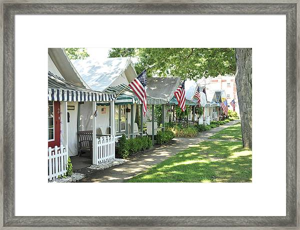 Tent City Framed Print