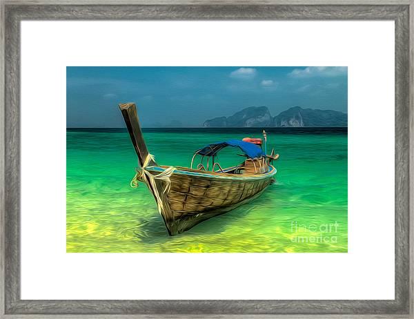 Thai Longboat Framed Print