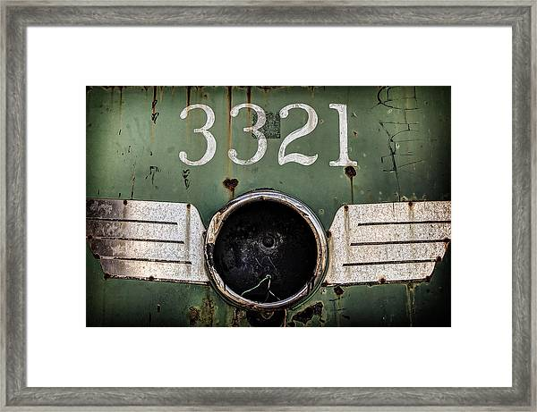 Framed Print featuring the photograph The 3321 by Steve Stanger