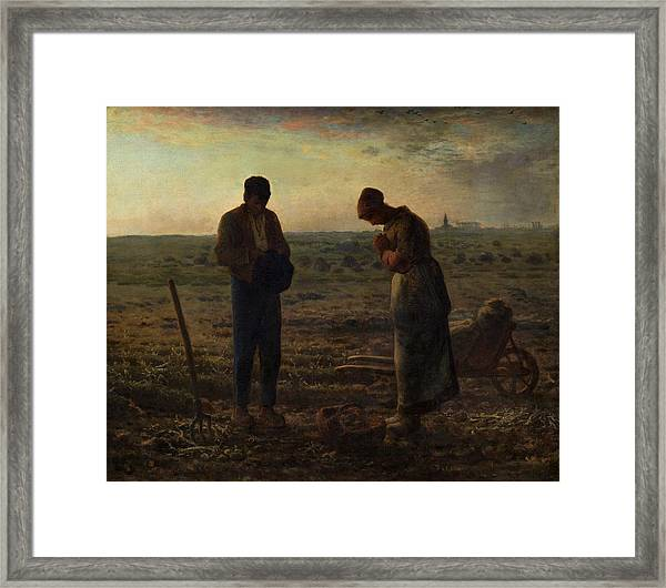 Framed Print featuring the painting The Angelus by Jean Francois Millet