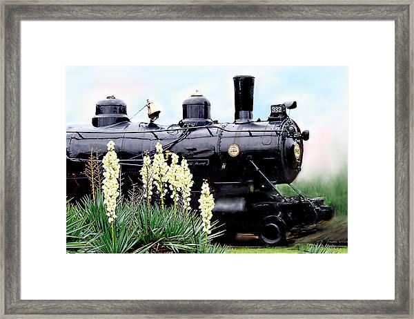 The Black Steam Engine Framed Print