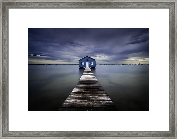 The Blue Boatshed Framed Print